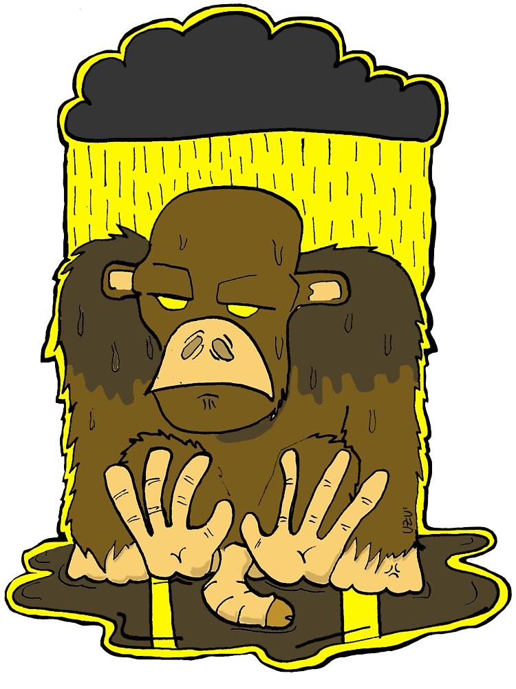 Monkey Depression by otsaaga