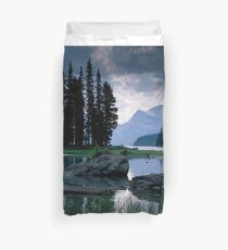 Maligne Lake after a Storm Duvet Cover