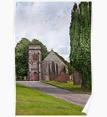 Building, Church, Corsock, Dumfriesshire, Scotland Poster
