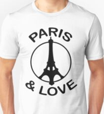 Paris & Love (design made in january 2013 !) Unisex T-Shirt