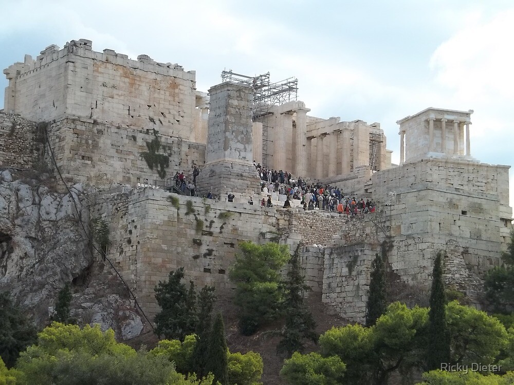 Acropolis, Athens, Greece by Ricky Dieter