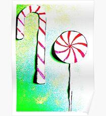 Christmas - Christmas baking, candy canes, lollipops - Weihnachtsbäckerei, Zuckerstangen, Lolipops Poster