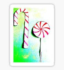 Christmas - Christmas baking, candy canes, lollipops - Weihnachtsbäckerei, Zuckerstangen, Lolipops Sticker