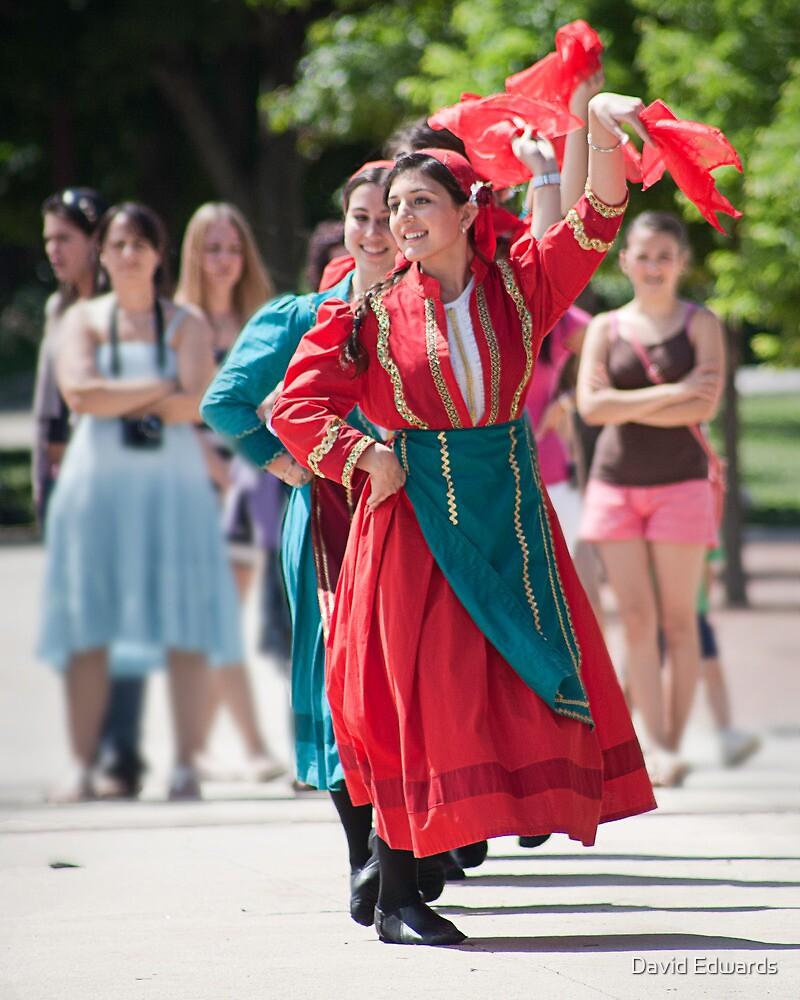 Albanian Dancers by David Edwards