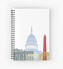 Washington DC skyline poster Spiral Notebook