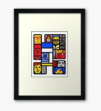 8-BIT WARS Framed Print
