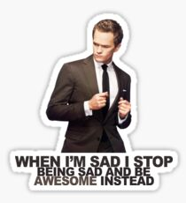 The Awesomeness that is Barney Stinson Sticker