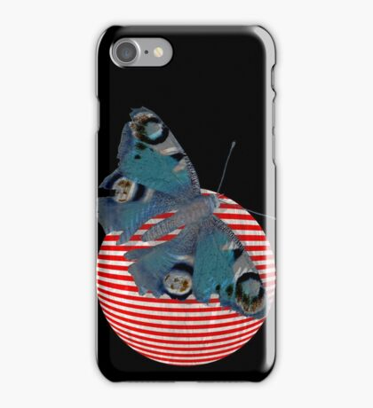butterfly and ball  iPhone Case/Skin