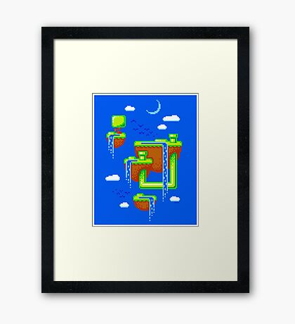 PIXEL ISLANDS Framed Print