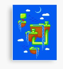 PIXEL ISLANDS Canvas Print