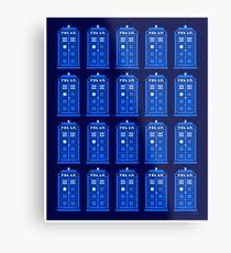 TARDIS PATTERN Metal Print