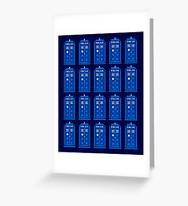 TARDIS PATTERN Greeting Card