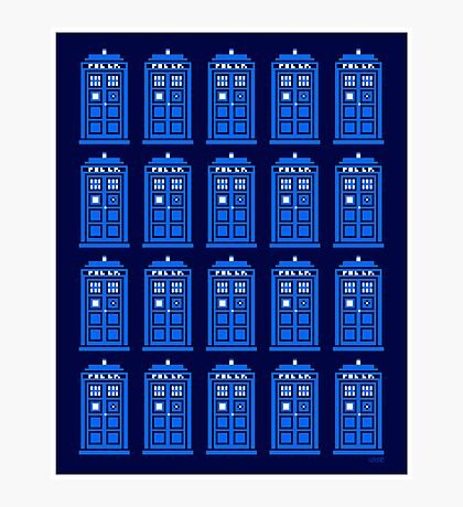TARDIS PATTERN Photographic Print