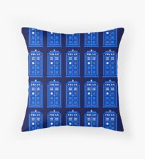 TARDIS PATTERN Throw Pillow