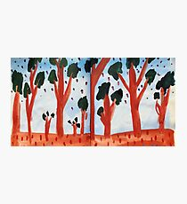 Orange Treed Forest Photographic Print