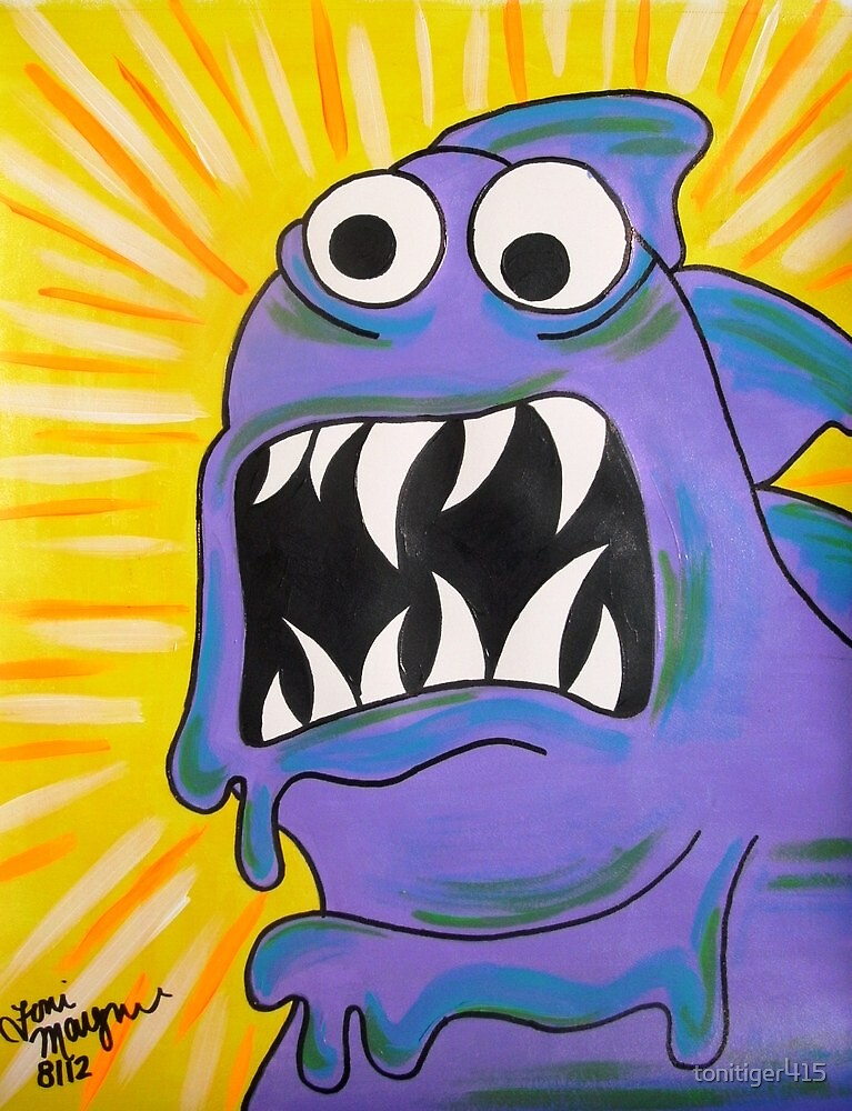 Slimy Purple Monster by tonitiger415