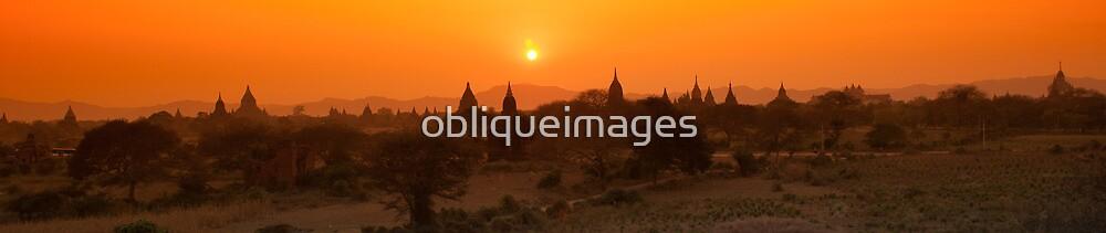 Sunset over Bagan by obliqueimages