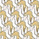 Golden Unicorn Repeat by pondripple