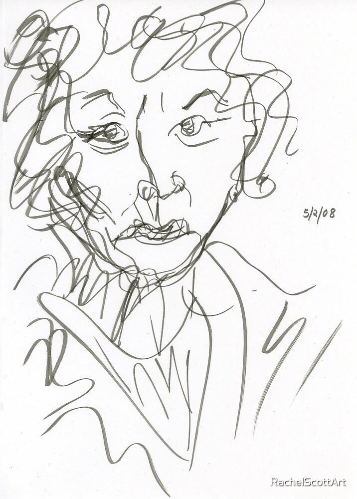 Miss Marple Sketch I by RachelScottArt