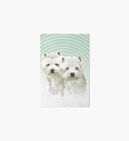 westies (mother and daughter) Art Board