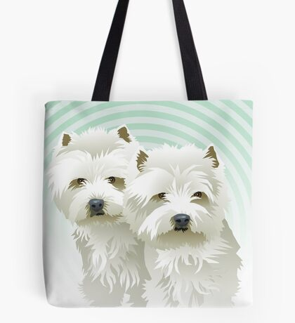 westies (mother and daughter) Tote Bag