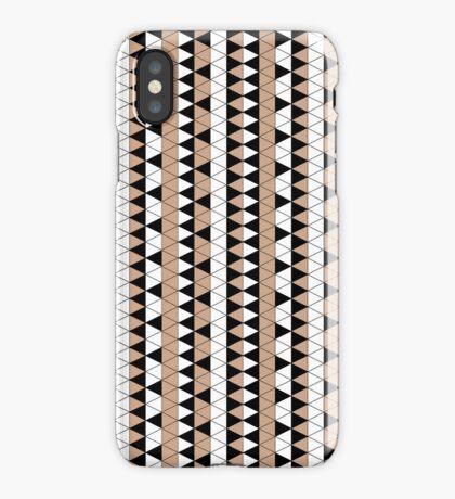 Mocha Triangle Check Stripe iPhone Case/Skin