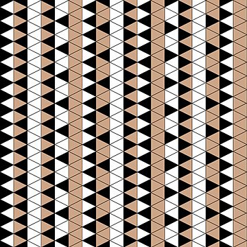 Mocha Triangle Check Stripe by pondripple