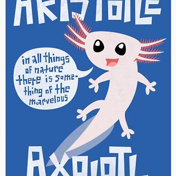 Aristotle Axolotl {Sticker} by geeksweetie