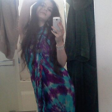 Blue Tie Die Dress by SxySindy