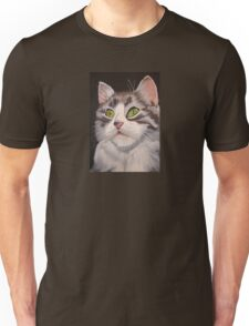 Long Haired Tabby Cat Portrait T-Shirt