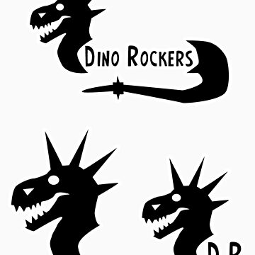 Dino Rockers Logo Stickers by KimboDragon
