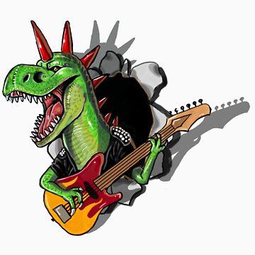 Rex Roar Sticker by KimboDragon