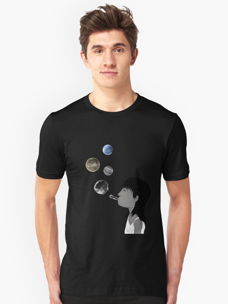 Blowing planets Unisex T-Shirt Front