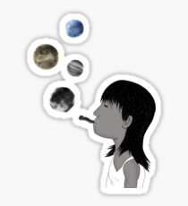 Blowing planets Sticker