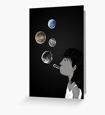 Blowing planets Greeting Card