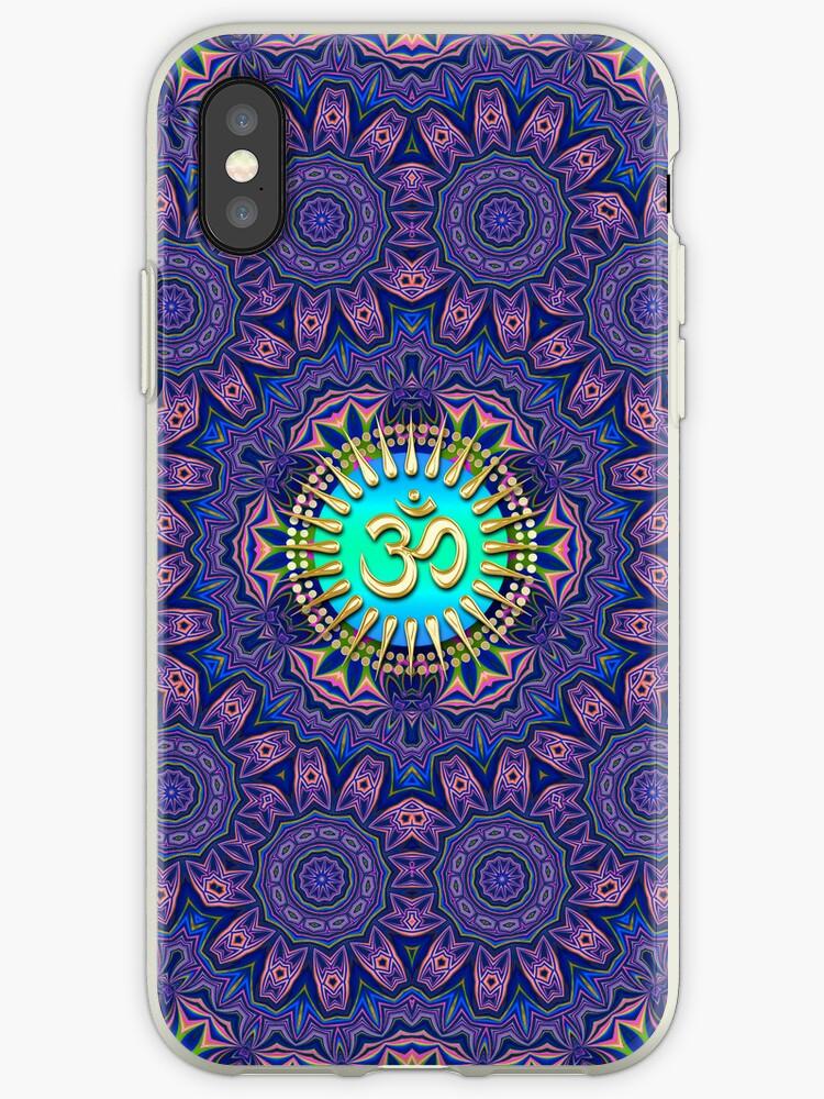 Purple New Age Golden Om iPhone & iPod Case  by webgrrl