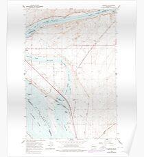 USGS Topo Map Washington State WA Humorist 241601 1964 24000 Poster