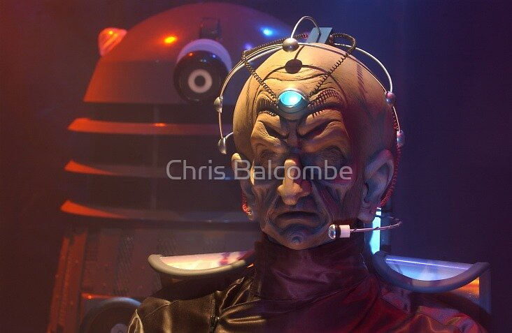 Davros and a Dalek from Doctor Who by Chris Balcombe