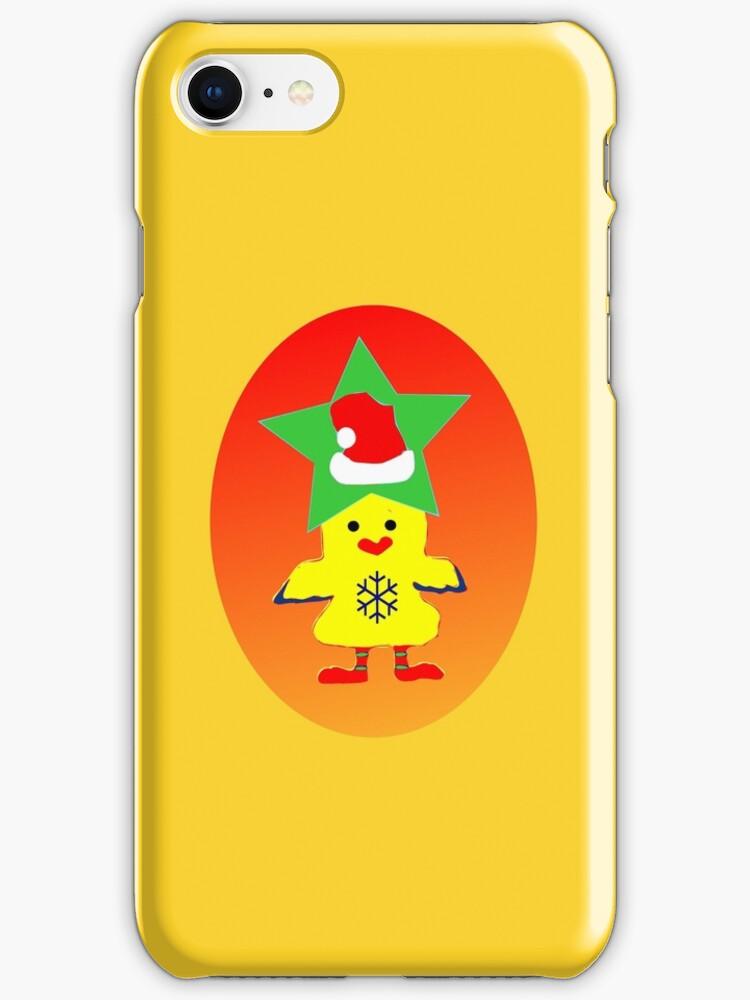★㋡ټHipHop Santa Chicken iPhone & iPod Cases㋡★ by Fantabulous