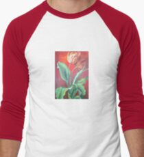 Red and Yellow Tulips Men's Baseball ¾ T-Shirt