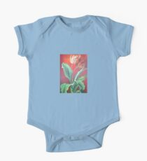 Red and Yellow Tulips One Piece - Short Sleeve