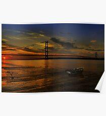 Humber Bridge Sunset Poster