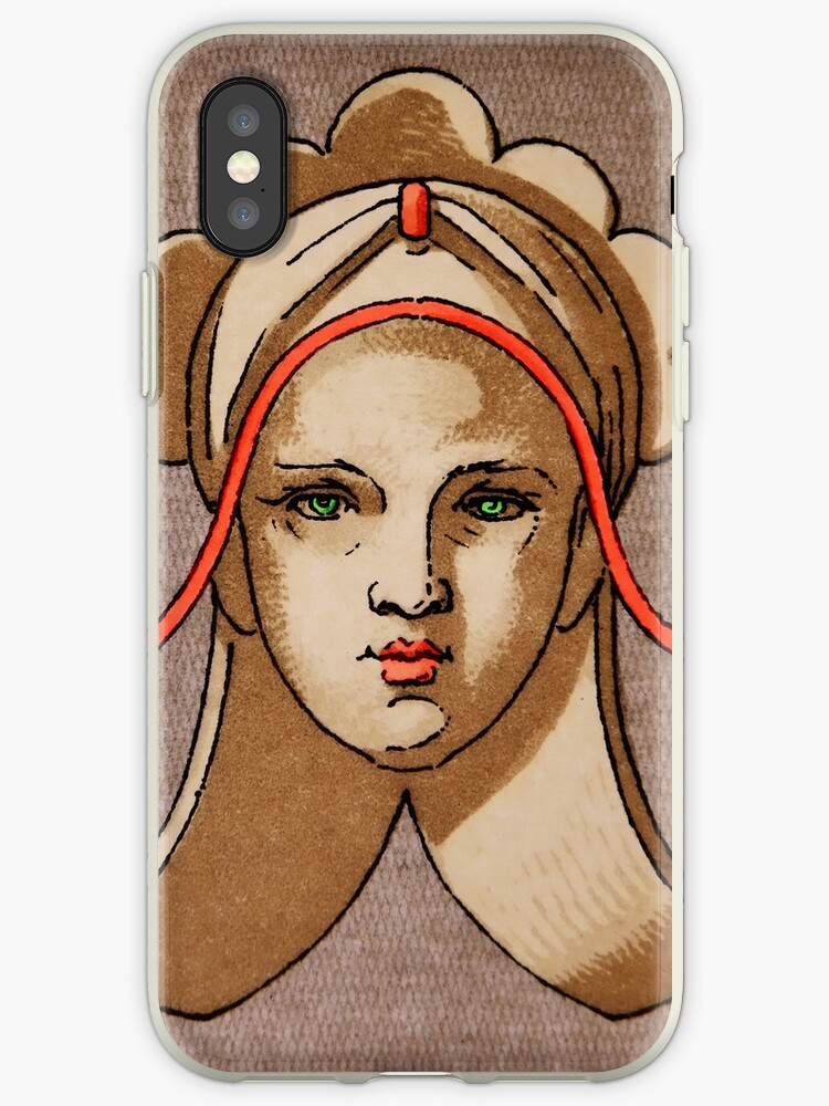 Decorative Woman Motif iPHONE Case by Pamela Phelps