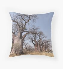 Botswana Baines Boabab Throw Pillow