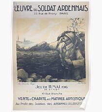 Oeuvre du soldat ardennais vente de charité avec matinée artistique Poster