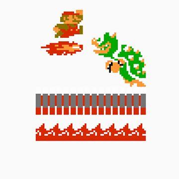 Mario VS Bowser 8-bit by Funkymunkey