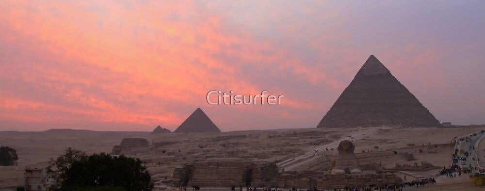 Sunset over the Giza Plateau by Citisurfer