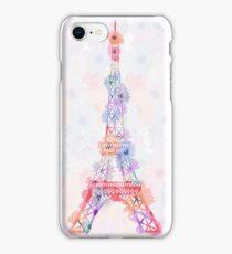 Flower Eiffel Tower Paris iPhone Case/Skin