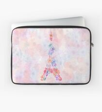 Flower Eiffel Tower Paris Laptop Sleeve