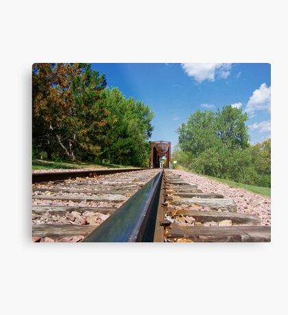 Lonesome Rails Metal Print